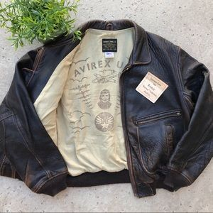 Avirex Vintage 1990's G-2 US Navy Leather Bomber